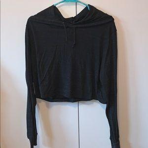 Crop long sleeve hoodie